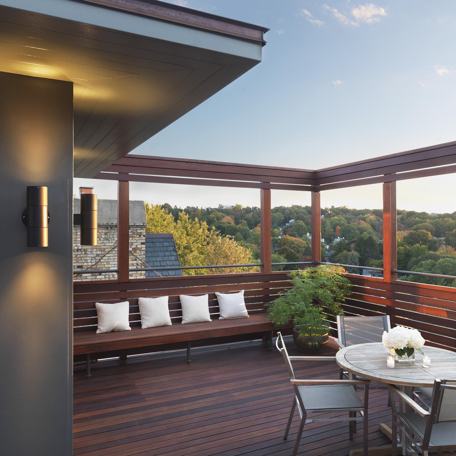 a brookline roof deck gets a second life - Rooftop Deck Design Ideas