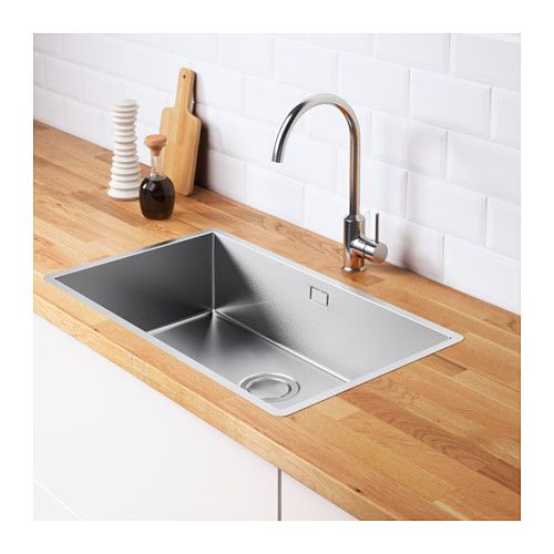 NORRSJÖN Évier intégré, 1 bac, acier inoxydable Pinterest Sinks