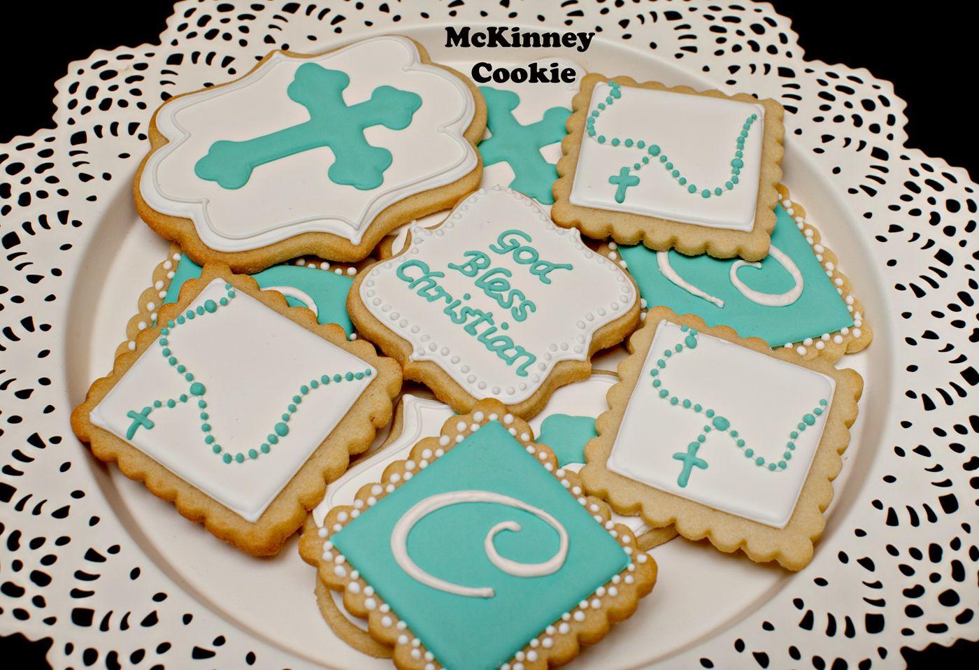 Christian's Baptism Cookies Baptism cookies, Cookies