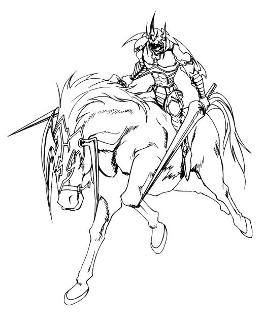 Card Monster Gaia The Fierce Knight Coloring Pages Yu Gi Oh