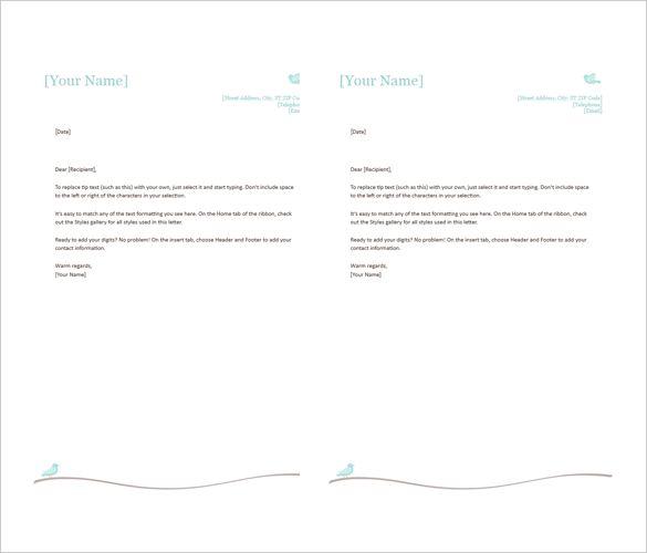 letterhead templates microsoft word free amp premium community - letterhead format word