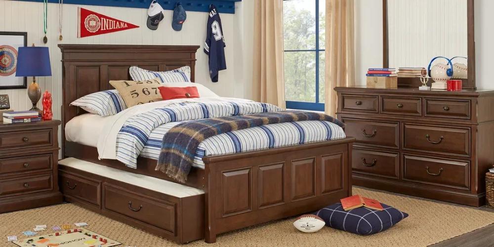 Kids Owens Valley Brown Cherry 5 Pc Full Panel Bedroom Bedroom Panel Rooms To Go Furniture