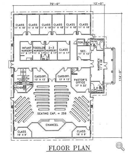 church plan 103 lth steel structures