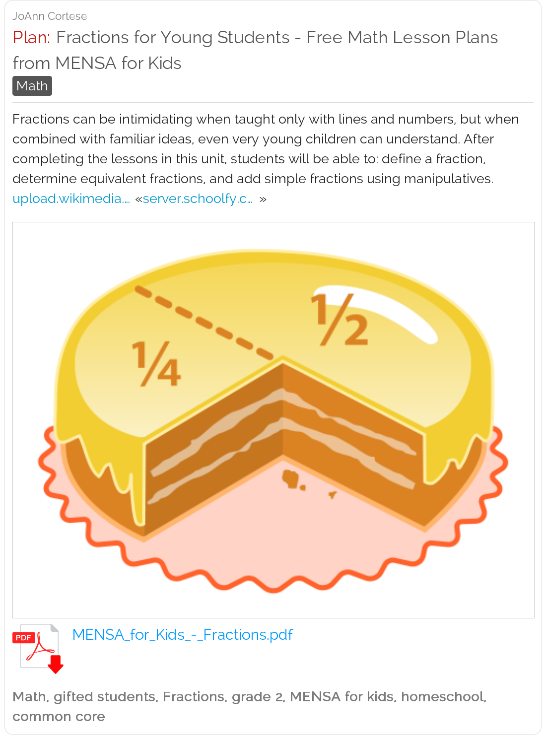 Fractions For Young Students