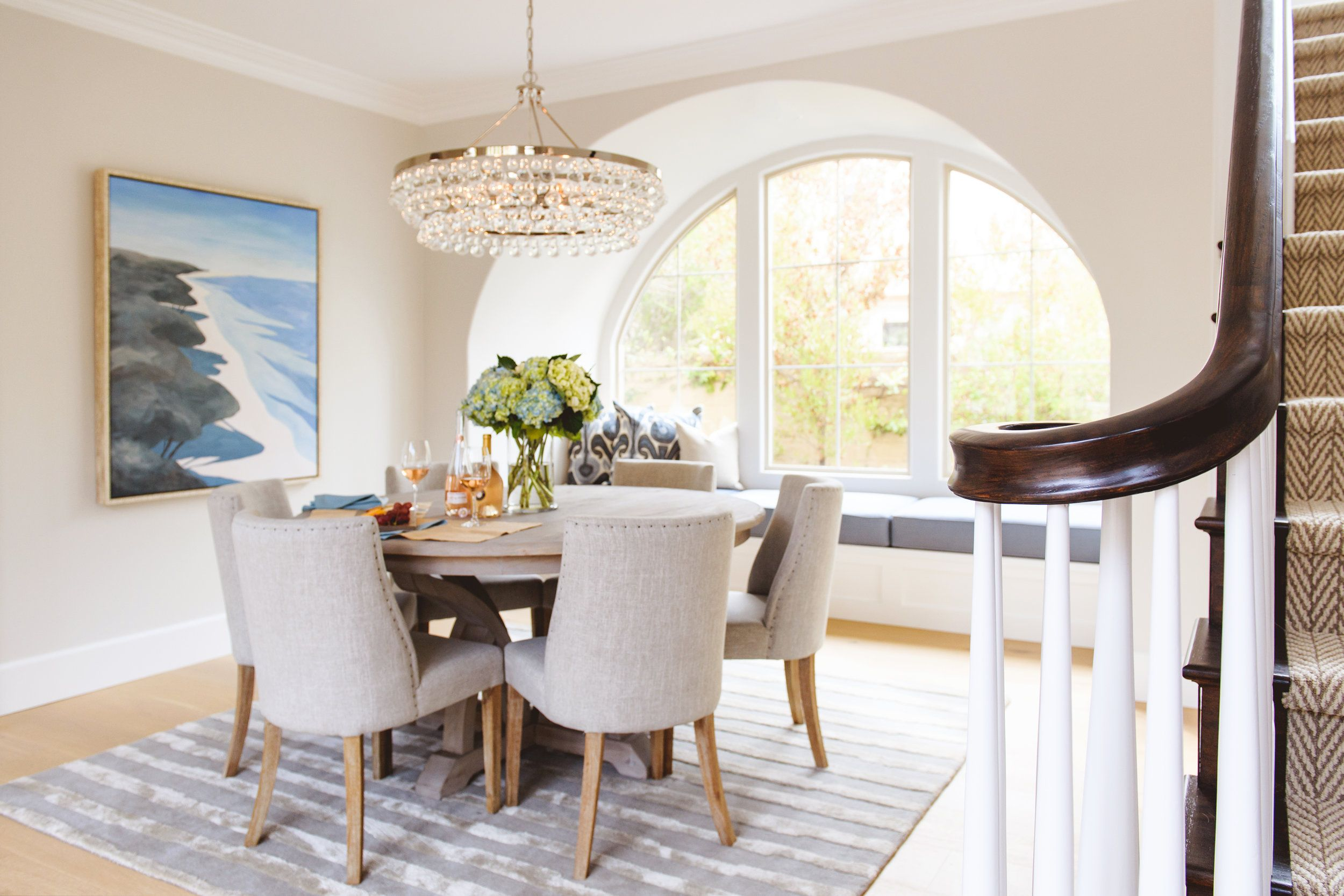 Staycation at Home Classy Coastal Dining Room Coastal