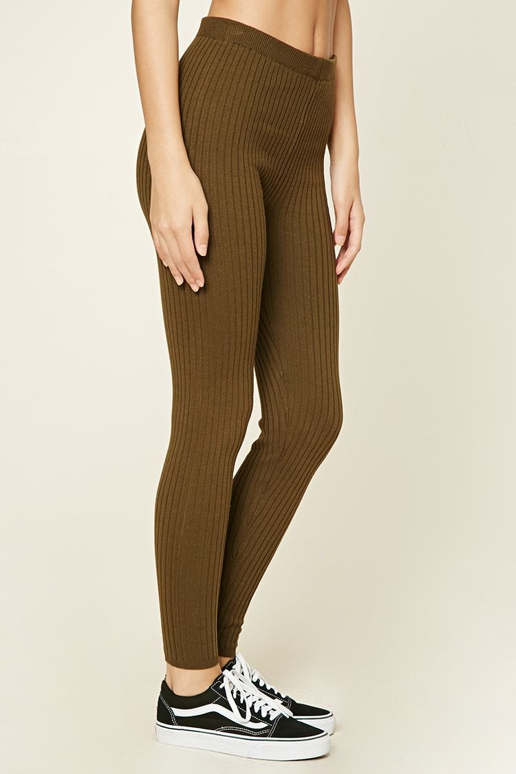 Product Name:Ribbed Sweater Knit Leggings, Category:CLEARANCE_ZERO ...