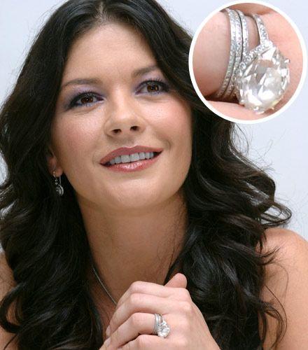 Catherine Zeta Jones Her Marquise Diamond Is Set Horizontally