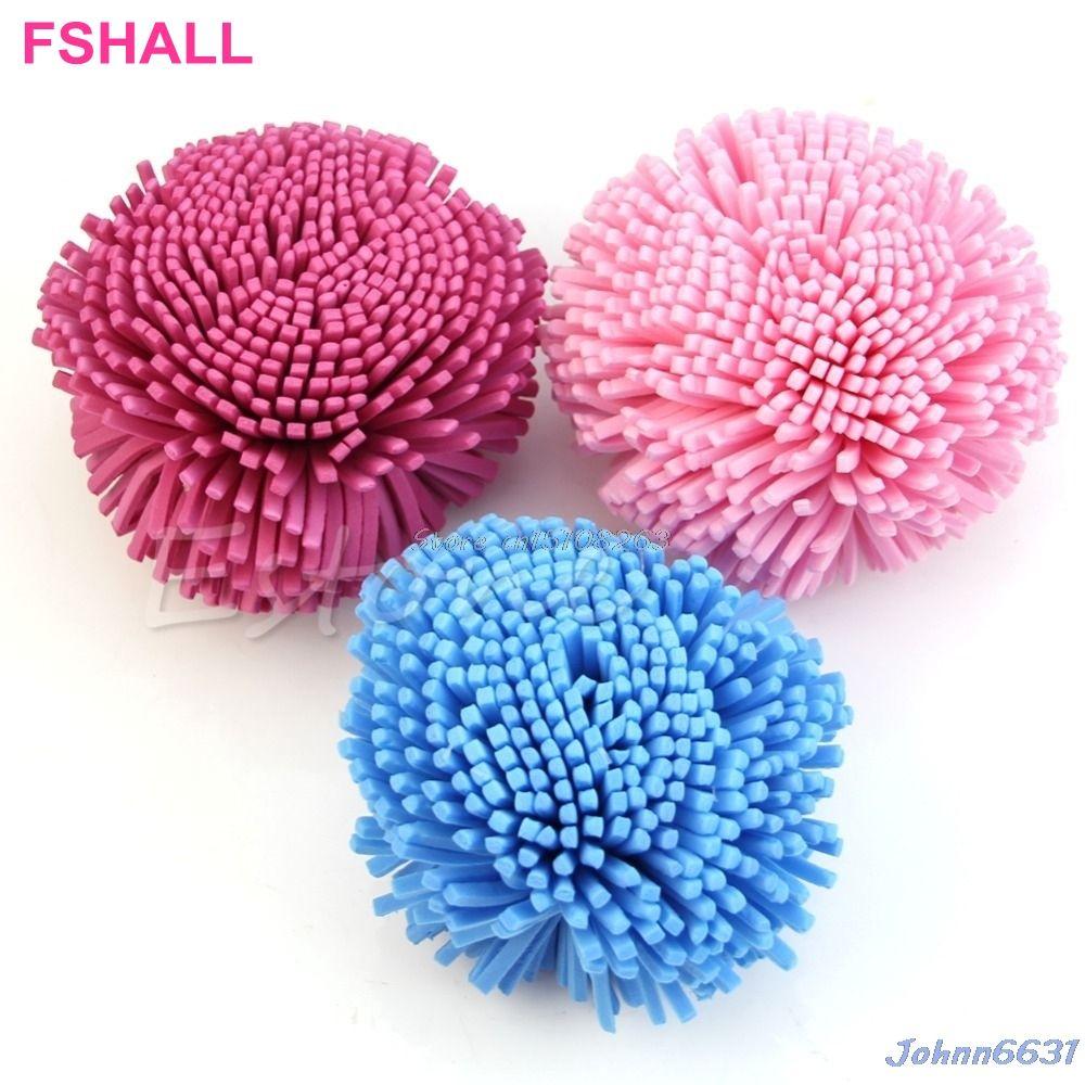 Soft Sponge Puff Ball for Bath Shower Clean Body Skin Exfoliation ...