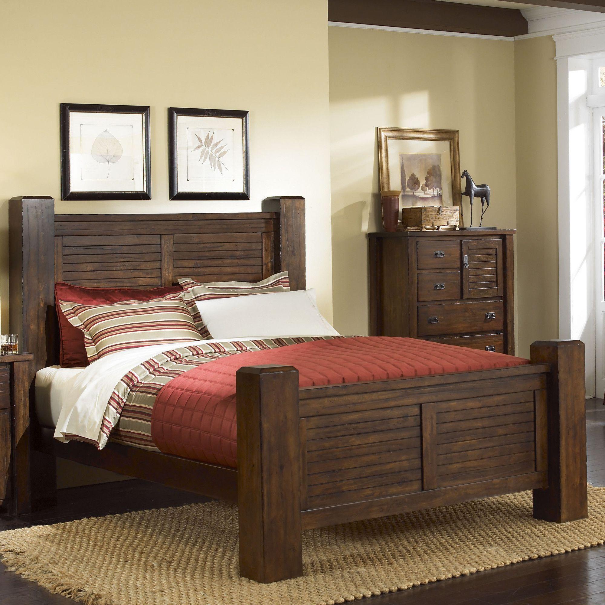 Progressive Furniture Trestlewood Poster Bed Wayfair EB - Progressive furniture bedroom sets