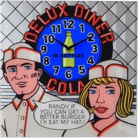 Delux Diner Wall Clock 43cm - Nextime 8167 - Comic Kitchen Clock