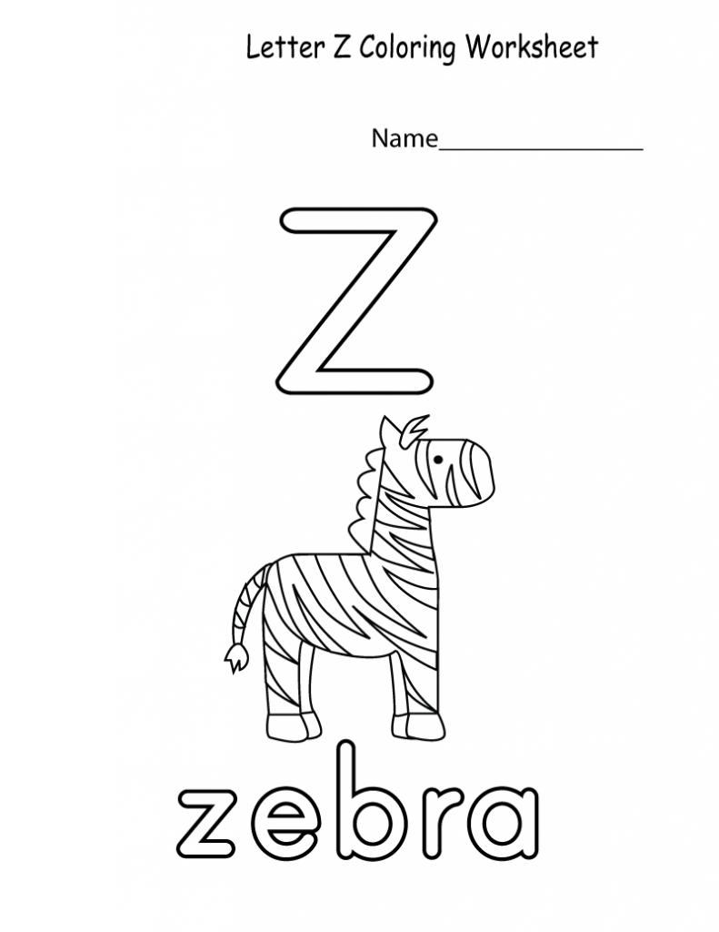 Free Printable Worksheets For Preschoolers For The Letter Z Free Printable Worksheets Preschool Worksheets Printable Worksheets [ 1024 x 791 Pixel ]