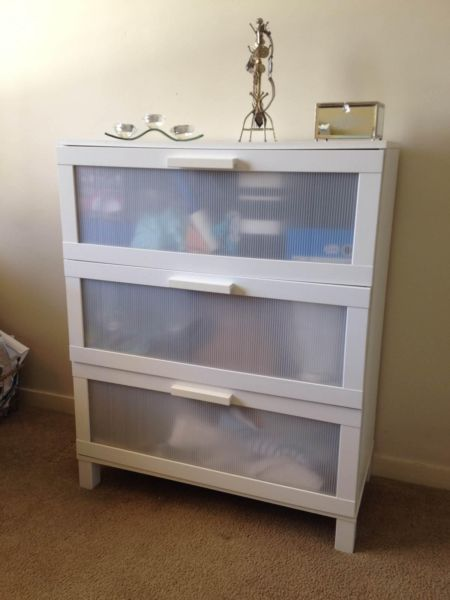 White Ikea Chest Of Drawers Aneboda Dressers Gumtree Australia Adelaide City