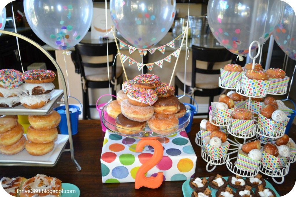 Donut birthday party project nursery donut birthday