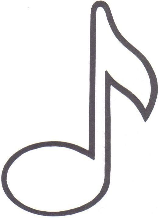 Notas Musicais Em Feltro Com Moldes Moldes De Notas Musicais