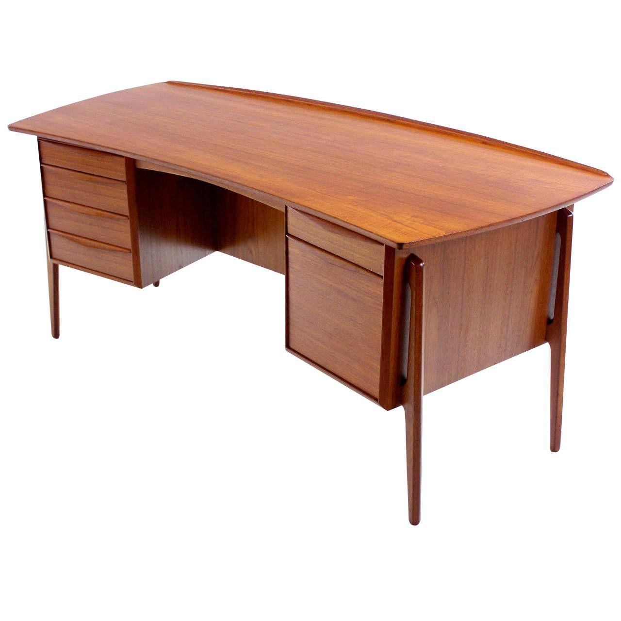 Danish Modern Teak Desk Designed By Svend Madsen Desk Design