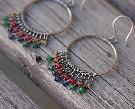 Etsy Transaction -          CUSTOM ORDER for SJO oOo Sterling Gemstone Chandelier Hoops