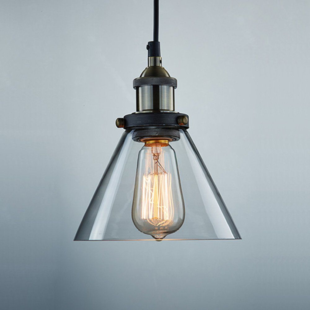Ecopower Industrial Edison Antique Glass 1-Light Mini