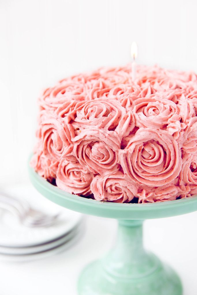 Strawberry Almond Birthday Cake An Almond Flavored Cake With Fresh