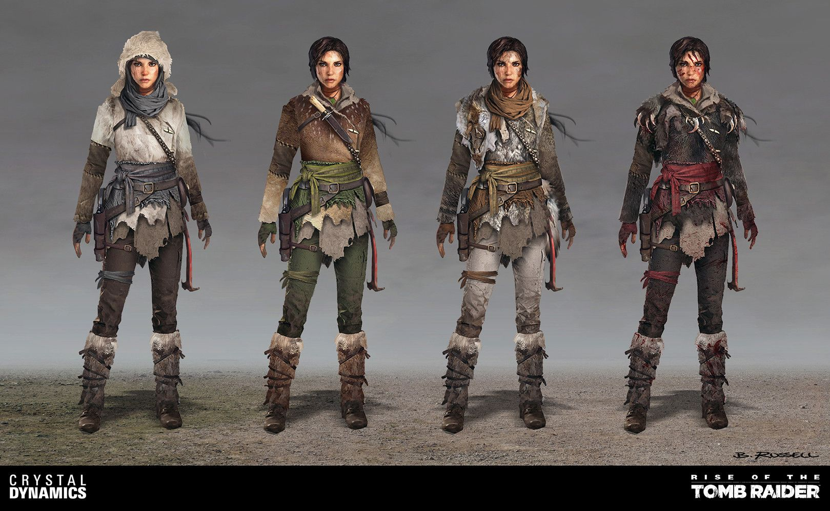 Rise Of The Tomb Raider Lara Dlc Outfits By Brandon Russell Tomb