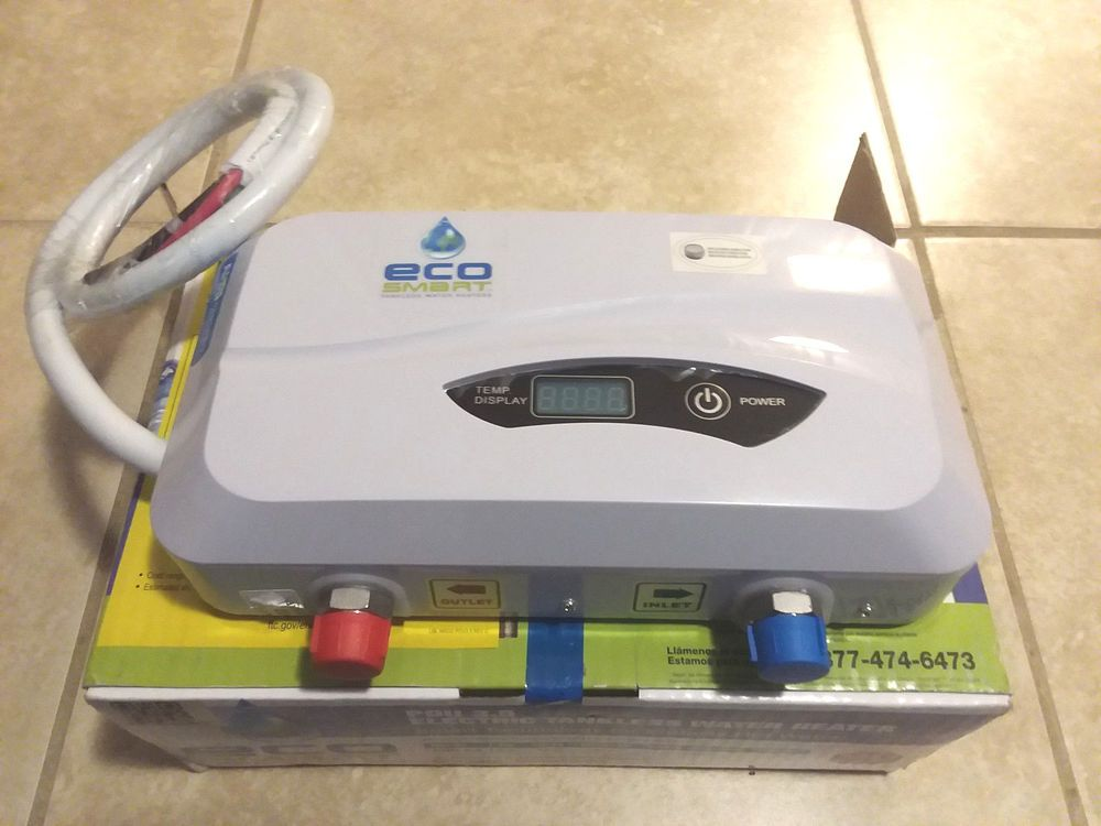ecosmart pou 3.5 point of use electric tankless water heater, 3.5kw