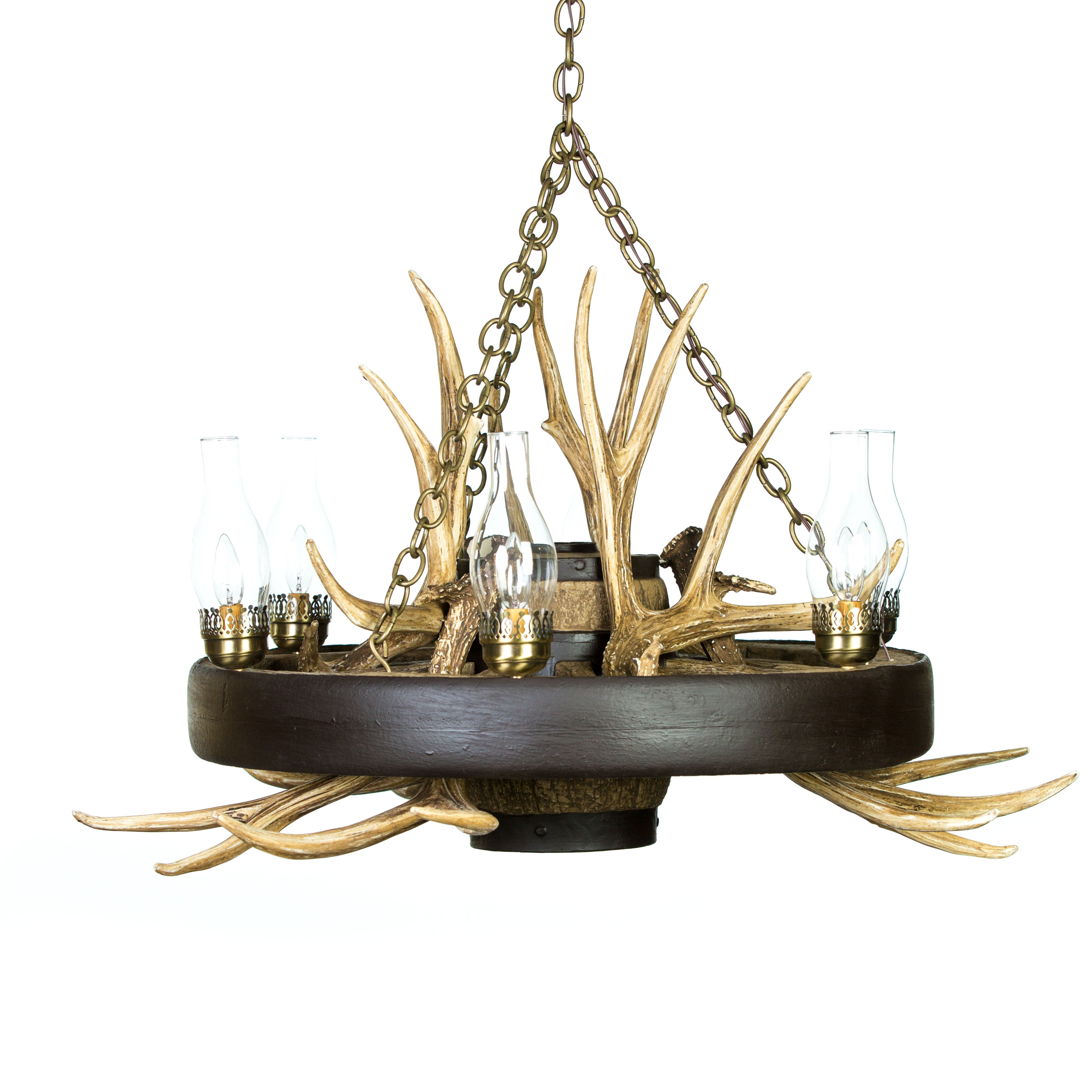This wagon wheel mule deer antler chandelier from cast horn designs this wagon wheel mule deer antler chandelier from cast horn designs is the perfect rustic combination arubaitofo Image collections