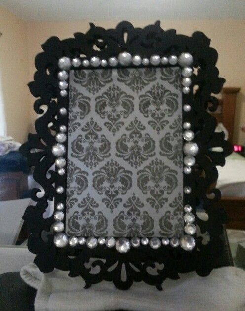Table number frame...unfinished frame from Michaels...beads and ...