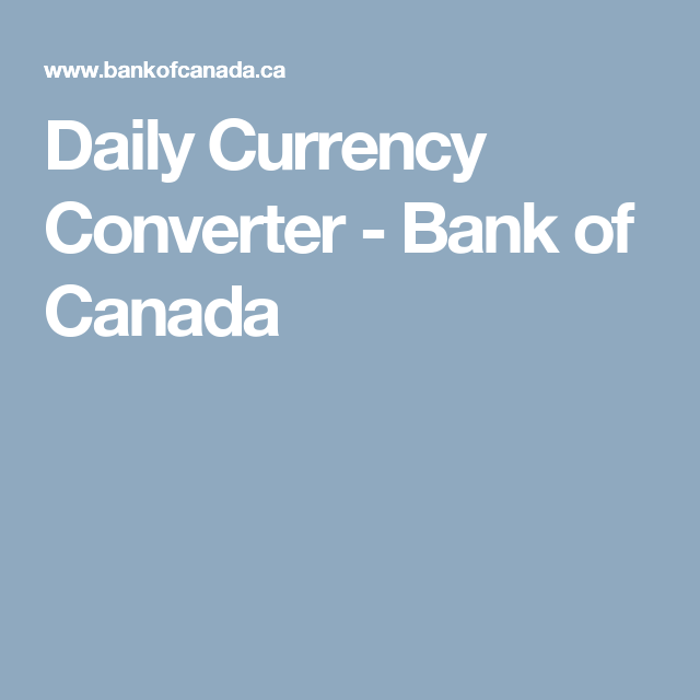 Daily Currency Converter Bank Of