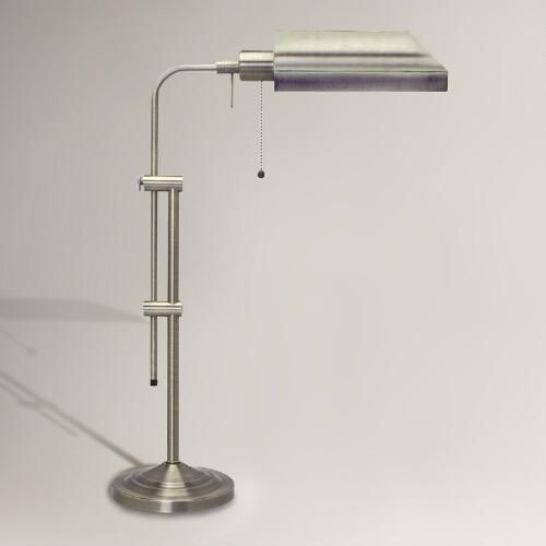 One of my favorite discoveries at WorldMarket.com: Chemist's Table Lamp, Brushed Steel