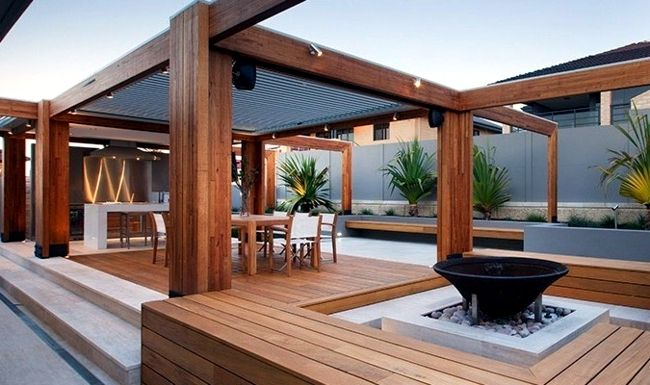Best 20 Beautiful Backyard Wooden Patio Ideas Patio Flooring 640 x 480