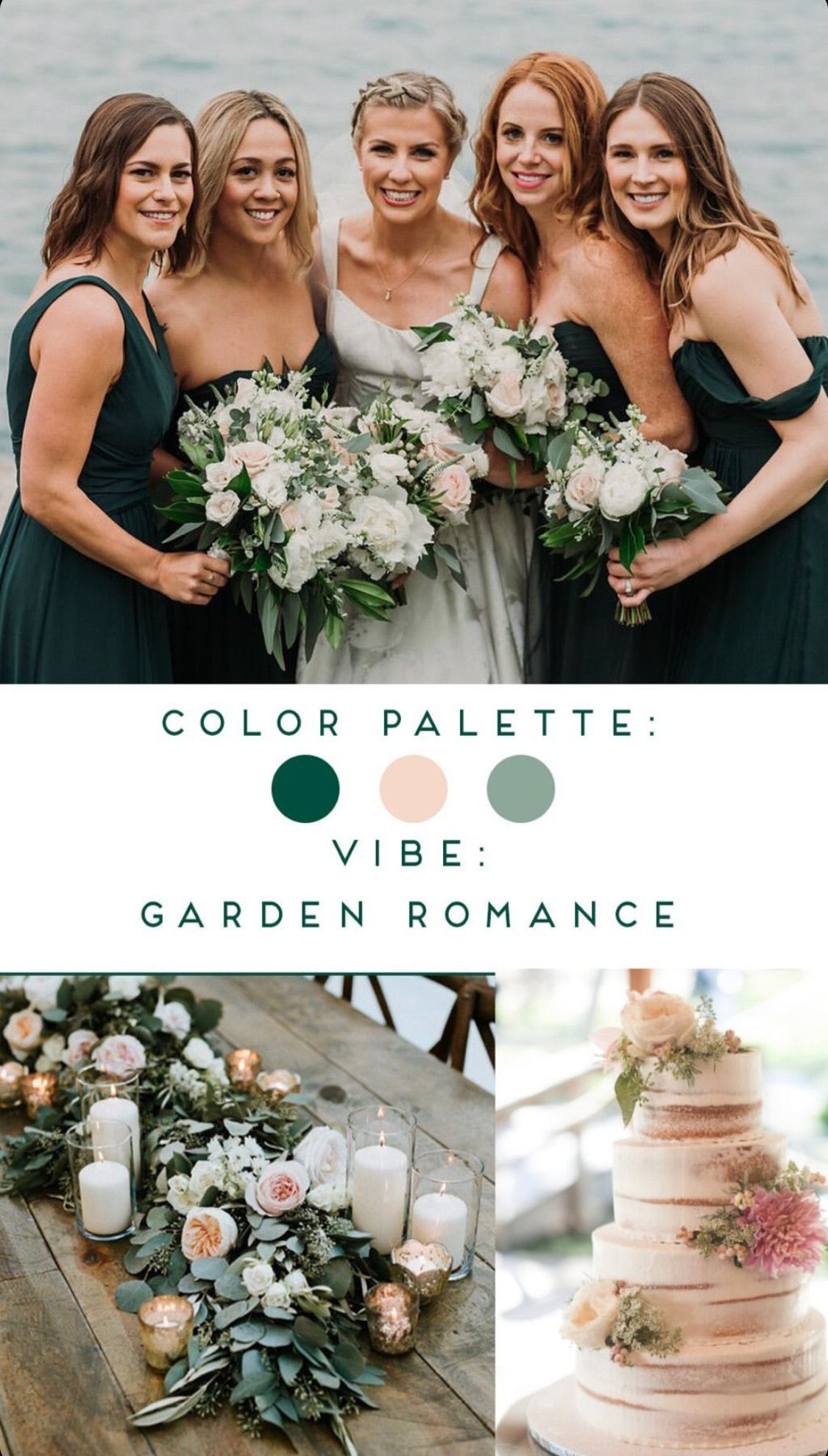 Forest Green Wedding Colors Inspiration Brideside Bridesmaids In 2020 Forest Green Wedding Forest Green Bridesmaid Dresses Dark Green Wedding