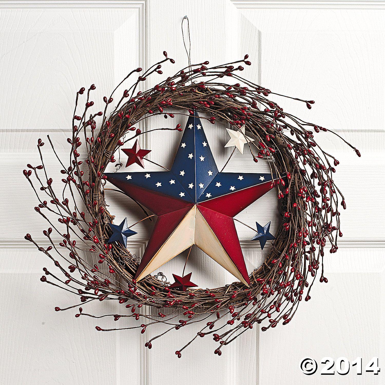 Wicker+Americana+Star+Wreath+-+TerrysVillage.com