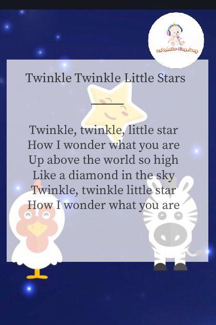 Lyrics Le Little Stars Nursery Rhymes Kids Sleeping Songs