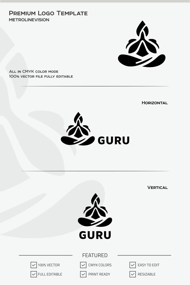 Get Meditation Logo Pinterest