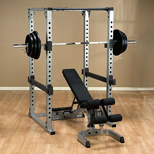 Olympic Weight Set and Power Rack Olympic Weight Set with Bench