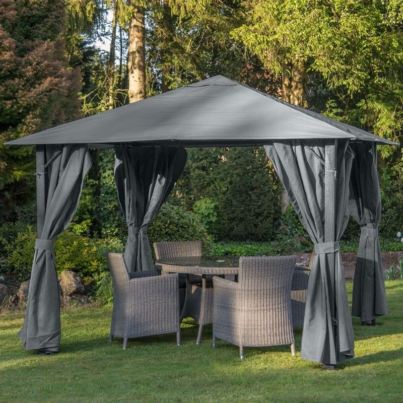 PARIS GAZEBO 3X3 OR 3X4 FINISHED IN DARK CREAM FULLY
