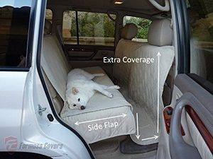 Deluxe Quilted And Padded Car Back Seat Cover For Pets