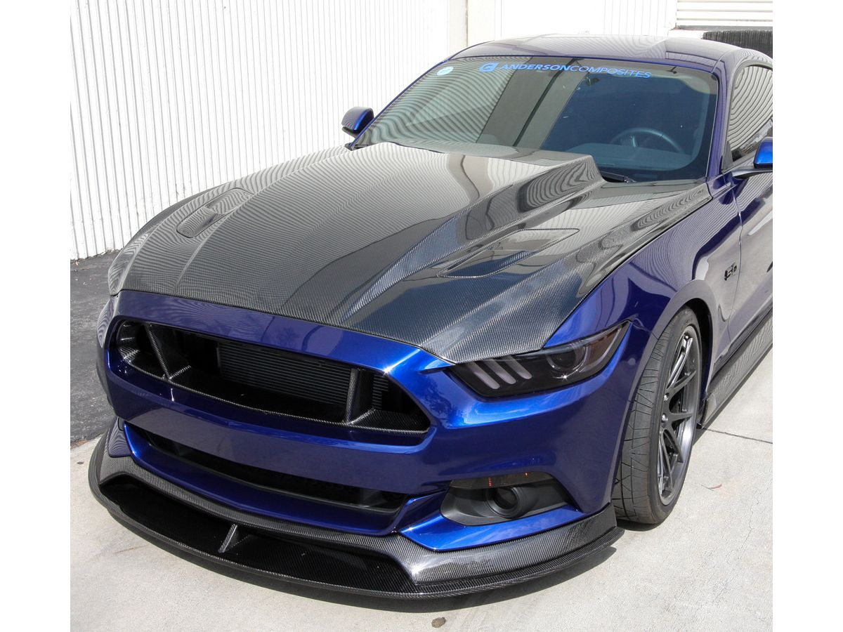 2015 2017 Mustang Anderson Composites 3 Cowl Carbon Fiber Hood Ac