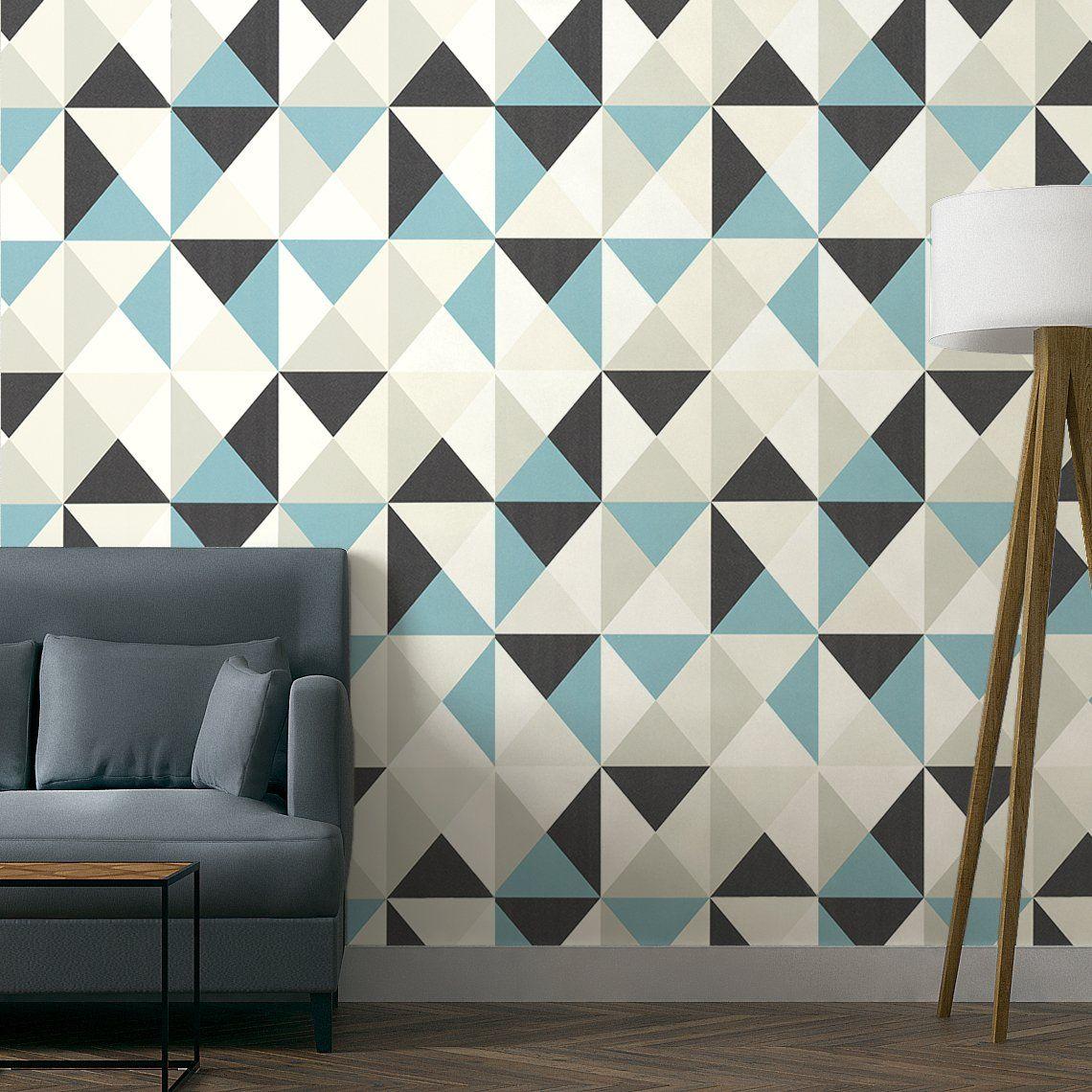 papier peint bill expans sur intiss motif polygone. Black Bedroom Furniture Sets. Home Design Ideas