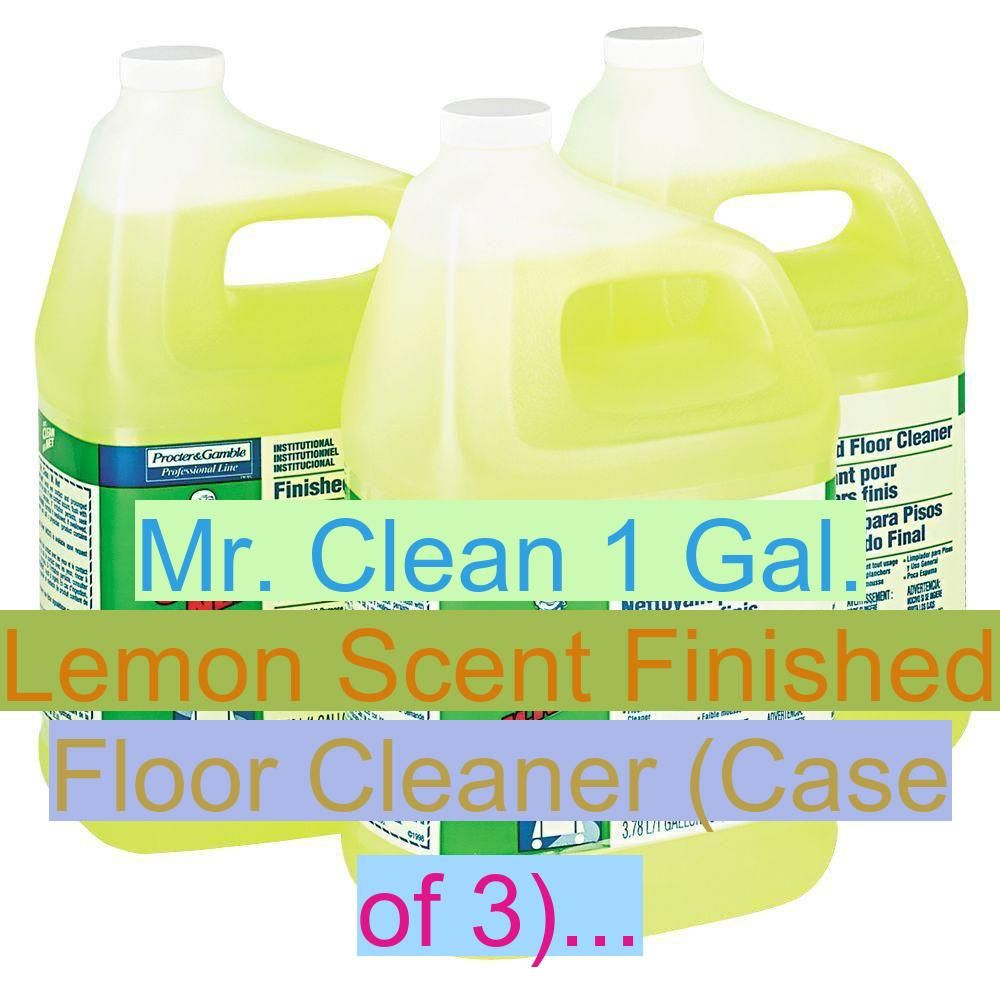 Finished Cleaner Clean Lemon Scent Cleaning Block Wc Dm Mr Clean 1 Gal Lemon Scent Finished Floor Cleaner Case Of 3 In 2020 Cleaning Floor Cleaner Soap Bottle