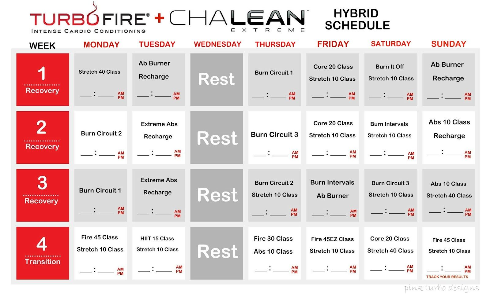 Committed to Fit*: ChaLEAN Extreme & Turbo Fire Hybrid ...