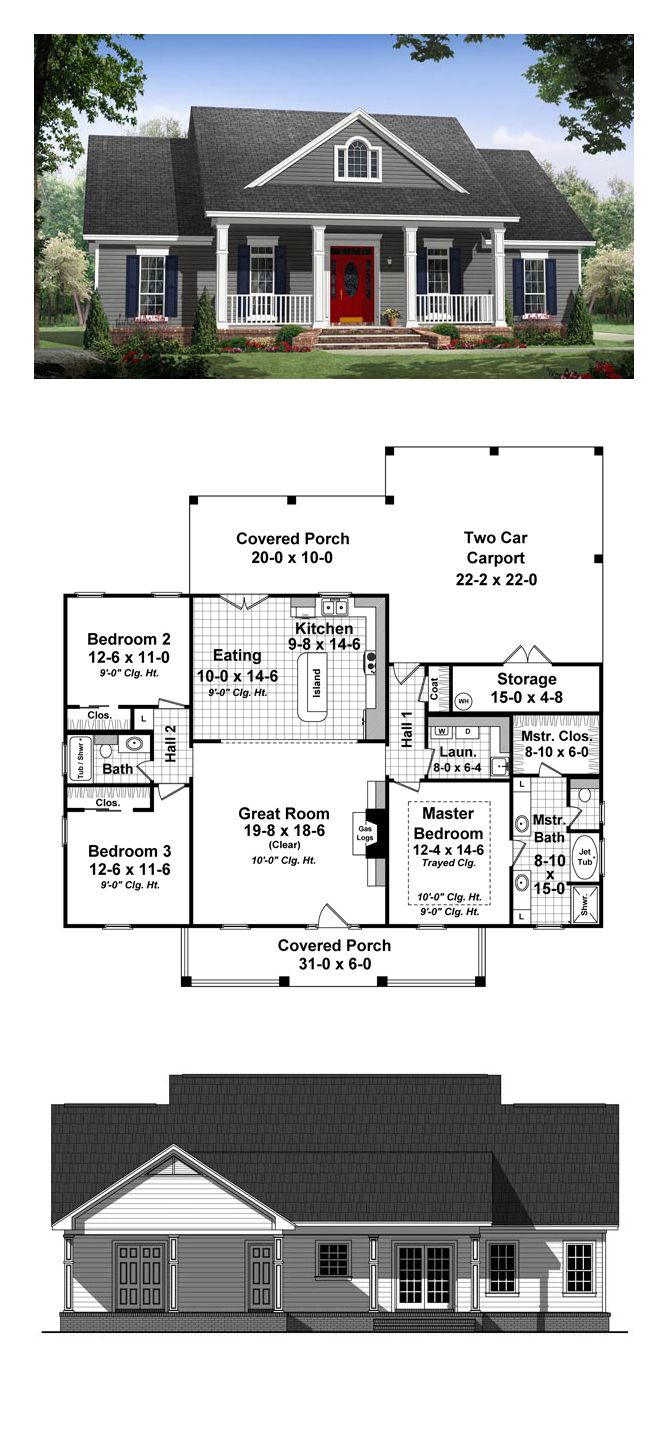 cool simple house plans. Ranch Style COOL House Plan ID  chp 48752 Total Living Area 1640 sq ft 3 bedrooms and 2 bathrooms houseplan ranchstyle Simple homes Pinterest