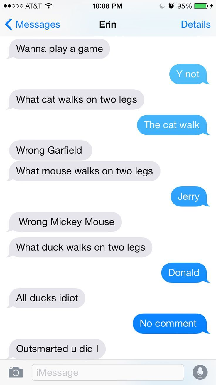 Yes u did | Funny texts jokes, Funny text memes, Funny texts pranks