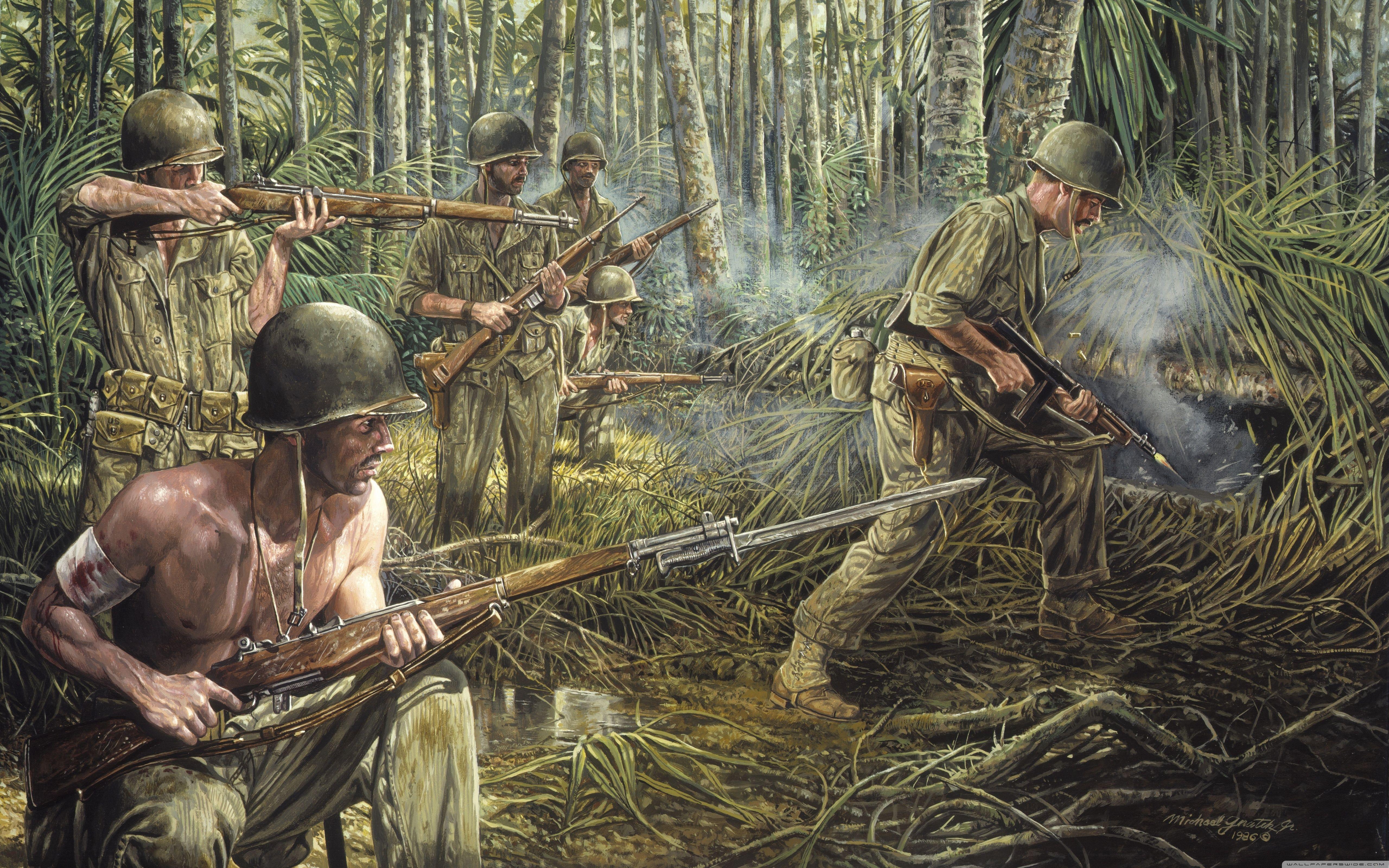 Famous Vietnam War Paintings Potteryplates Com War Art World War Combat Art