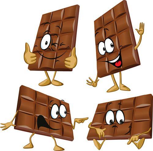 Funny Cartoon Chocolate Vector Material 04 Chocolate Design Cartoon Choco