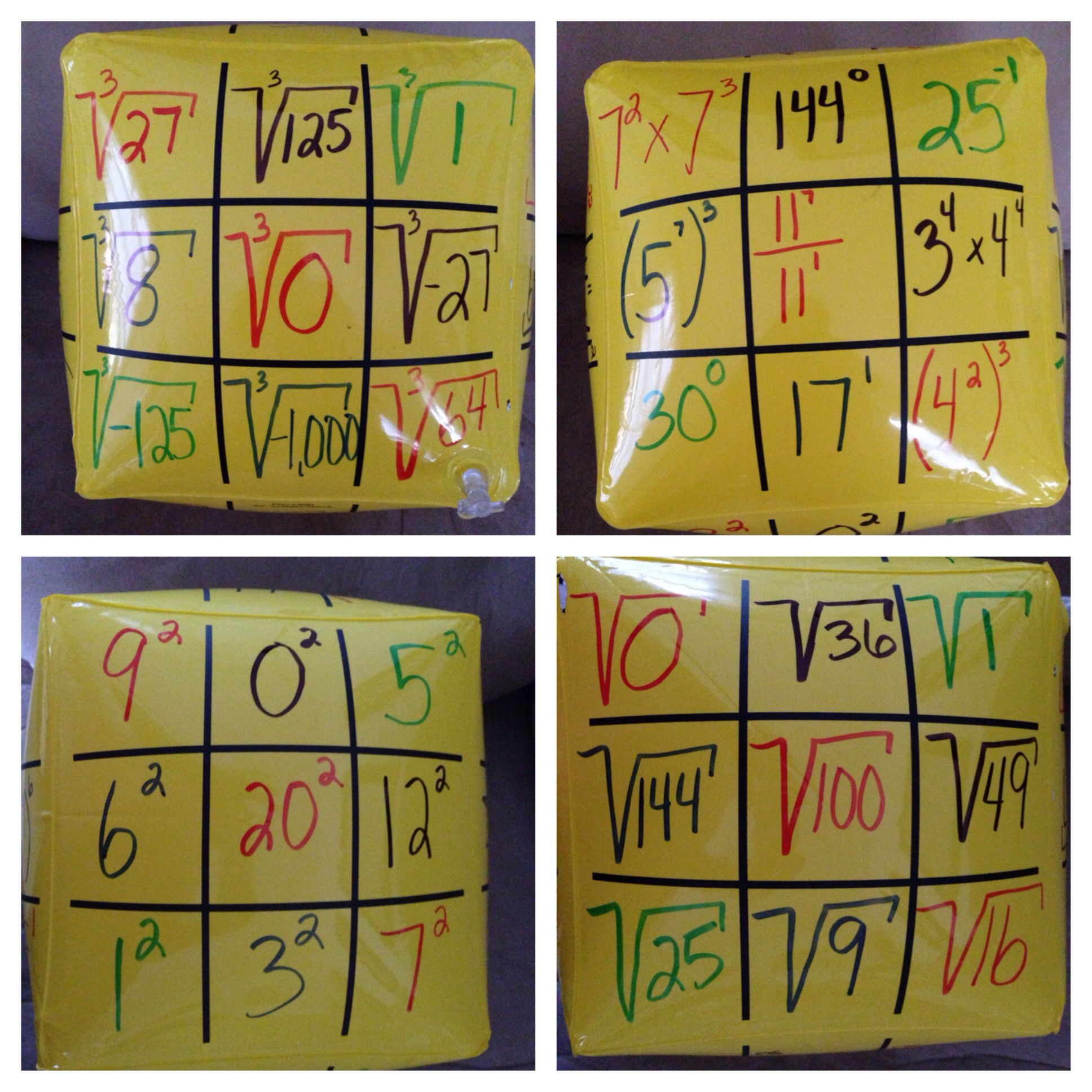 Cube Roots Square Roots And Laws Of Exponents Beach Ball