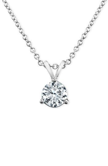 Bony levy solitaire diamond pendant necklace nordstrom bony levy solitaire diamond pendant necklace nordstrom exclusive available at nordstrom aloadofball Image collections