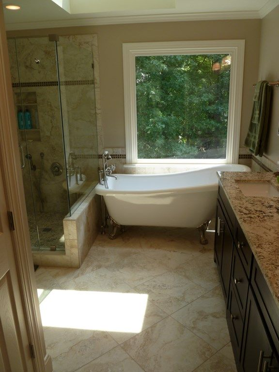 Portofino Tile Is Located In Cary Nc This Photo Is One Of The Dream Bathroom Renovations Complete Bathroom Renovations Bathrooms Remodel Bathroom Renovations