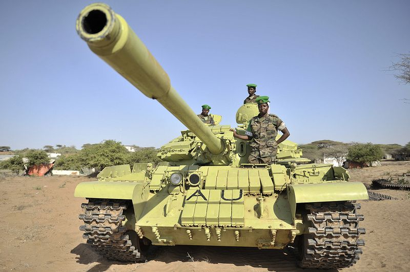 Amisom Female Tank Crew Lance Corporal Military Vehicles