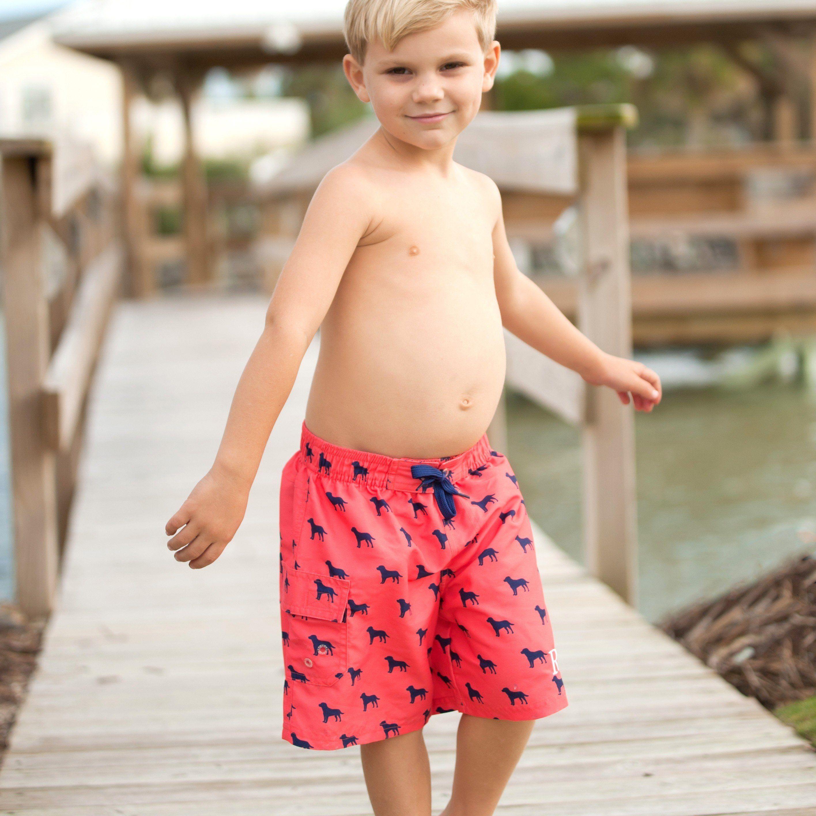 Dog Days Boys Swim Trunks Boy Swimsuits Childrens Bathing