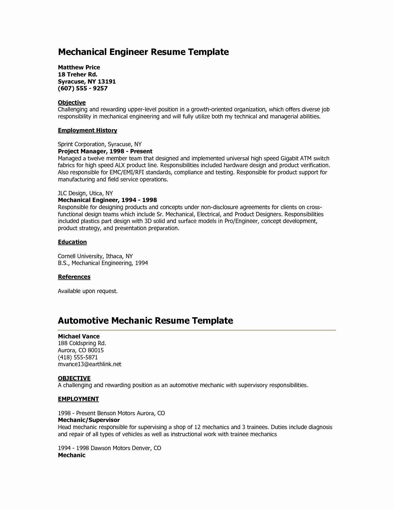 Bank Teller Resume No Experience Printable Resume Template Mechanical Engineer Resume Engineering Resume Bank Teller Resume